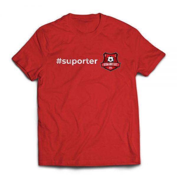 Tricou roșu suporter FC Hermannstadt