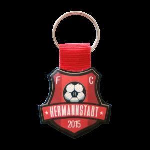 Breloc din piele personalizat cu logo FC Hermannstadt